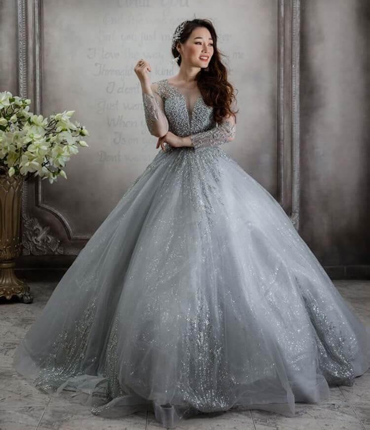 Áo và váy cưới cô dâu là điểm nhấn đặc biệt cho ngày cưới