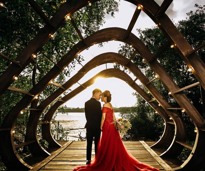 Hình cưới tại phim trường L'amour