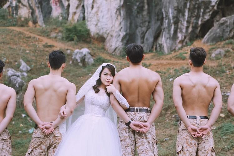 Chụp ảnh cưới theo phong cách bộ phim Hậu duệ mặt trời đòi hỏi đơn vị studio uy tín và chuyên nghiệp.