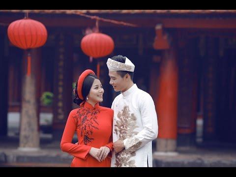 chụp ảnh cưới với áo dài truyền thống tại 9X Wedding