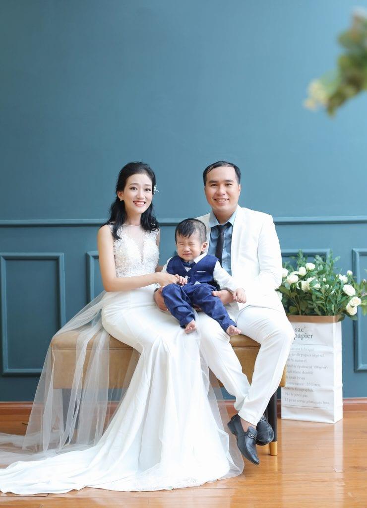 Album gia đình đẹp chụp tại 9X STUDIO